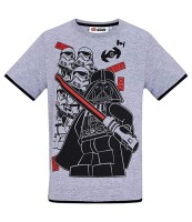 Star Wars T-Shirt - Vader mit Trooper Gruppe (grau)