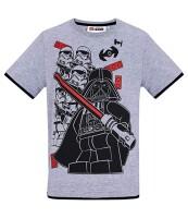 Star Wars T-Shirt - Vader mit Trooper Gruppe (grau)