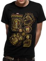 Avengers 3 Infinity War T-Shirt - Block Characters (schwarz)