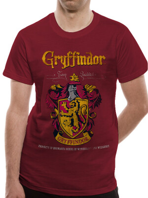 Harry Potter T-Shirt - Gryffindor Quidditch Wappen (rot) L