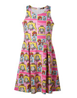 Super Mario Kleid (Kinder): Princess Peach (fullprint)