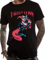 Batman T-Shirt - Harley Quinn Gun (schwarz)