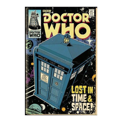 Doctor Who Poster: TARDIS Comic Cover