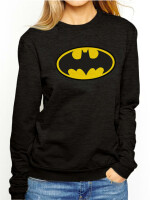 Batman Girlie Sweatshirt Batman Logo FOTL (schwarz)