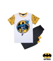 Batman Pyjama (anthrazit/weiß) (Kinder, 104-140)