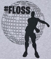 Fortnite T-Shirt - Dance #Floss (hellgrau)