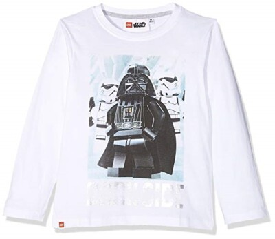 LEGO Star Wars Kinder Langarm-Shirt - Vader & Trooper (weiß)