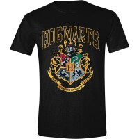 Harry Potter T-Shirt - Hogwarts Old School Logo (schwarz)