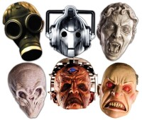 Doctor Who Maskenset (Pappe) Aliens & Monsters (6er Pack)