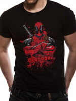 Deadpool T-Shirt - Pose Splash (schwarz)