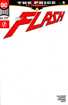 The Flash 64 (Vol. 5) Blank Variant Cover