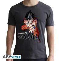 Dragon Ball Z T-Shirt - Goku Kamehameha (schwarz)