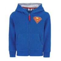 Superman Sweatshirt mit Kapuze Superman Logo (blau) 104-140
