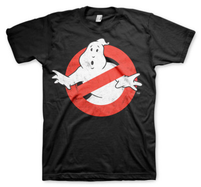 Ghostbusters T-Shirt - Logo Distressed (schwarz) S
