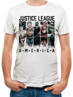 Justice League T-Shirt - America (weiß)