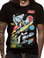 Star Wars T-Shirt - Comic Space Ships (schwarz)