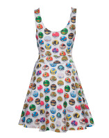 Pokemon Kleid (Damen): Allover Pokeball (fullprint)