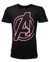 Avengers Endgame T-Shirt - Character Names (schwarz)