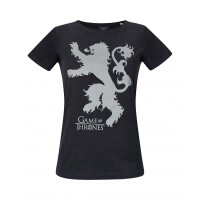 Game of Thrones Damen T-Shirt (Girlie) - Lannister (schwarz)