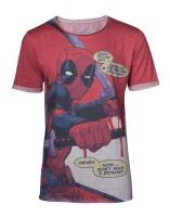 Deadpool T-Shirt - All over (grau meliert)