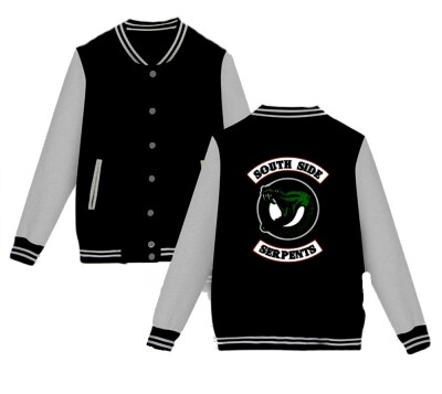 Riverdale College-Jacke - South Side Serpents (schwarz/grau) S