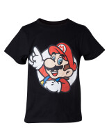 Super Mario Jugend Youth T-Shirt Super Mario pointing...