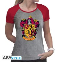 Harry Potter Damen T-Shirt (Girlie): Gryffindor Wappen...
