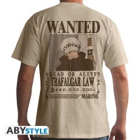One Piece T-Shirt - Wanted Trafalgar Law (beige)