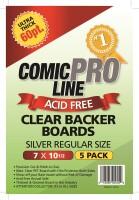 Comic Pro Line Clear Backer Boards Silver Size 60pt (5er...
