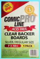 Comic Pro Line Clear Backer Boards Silver Size 80pt (5er...