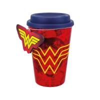 Wonder Woman Reisetasse (Travel Mug) Red Wonder Woman...