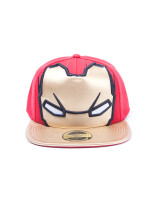 Marvel Baseball Cap - Civil War Iron Man Big Face (rot/gold)