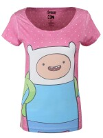 Adventure Time T-Shirt - Female Dotted Screen (rosa)