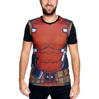 Deadpool T-Shirt - Sublimation Deadpools Suit (schwarz)