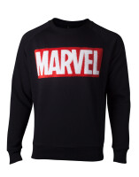 Marvel Comics Pullover - Chenille Box Logo (schwarz)