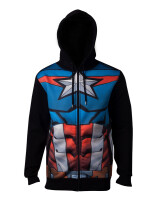 Captain America Kapuzenjacke - Sublimated (schwarz)