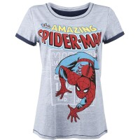Spider-Man T-Shirt (Damen): The Amazing Spiderman (schwarz)