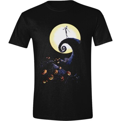 Nightmare Before Christmas T-Shirt - Jack Cemetery Moon (schwarz) L