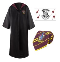 Harry Potter Kostüm Zauberergewand, Krawatte &...