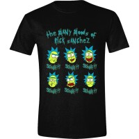 Rick and Morty T-Shirt The Many Moods of Rick (schwarz)
