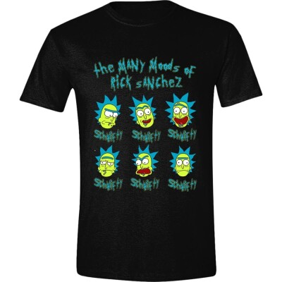Rick and Morty T-Shirt The Many Moods of Rick (schwarz) S