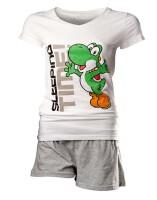 Super Mario Damen Schlafanzug (Pyjama) - Yoshi sleeping...