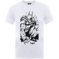 Batman Jugend Youth T-Shirt - Arkham Knight Sketch (weiß)