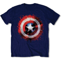 Captain America T-Shirt - Captain America Splat Shield...
