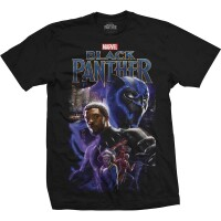 Black Panther T-Shirt - Cast Montage (schwarz)