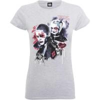 Suicide Squad Damen T-Shirt Girlie: Harley Puddin (grau)