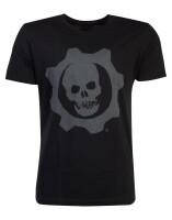 Gears of War T-Shirt - Skull Badge (schwarz)