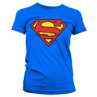 Superman Damen T-Shirt (Girlie): Superman Shield Classic...