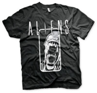 Alien T-Shirt - Aliens Diestressed (schwarz)