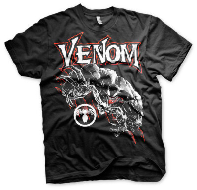 Spider-Man T-Shirt - Venom Attacks (schwarz) XL